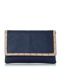Dune | Blue Bairo Studded Envelope Clutch Bag | Lyst