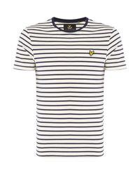 Lyle & Scott | Red Breton Stripe Crew Neck T-shirt for Men | Lyst