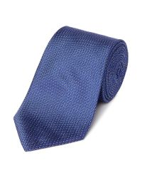 Armani - Blue Fleck Print Silk Tie for Men - Lyst