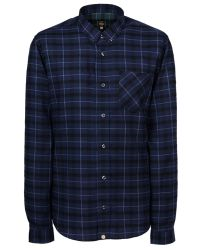 Pretty Green | Blue Slim Fit Enderby Check Shirt for Men | Lyst