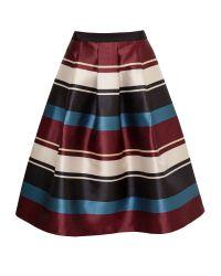 Ted Baker | Black Majida Antique Stripe Full Midi Skirt | Lyst