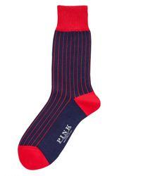 Thomas Pink   Blue Tenby Socks for Men   Lyst