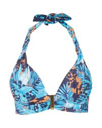 Biba | Blue Jungle Luxe Sophia Bikini Top | Lyst