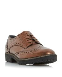 Dune | Multicolor Faune Cleat Sole Lace Up Shoes for Men | Lyst