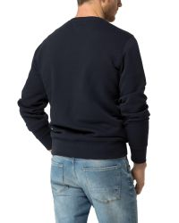 Tommy Hilfiger - Blue Cotton Linen Crew Neck Sweater for Men - Lyst
