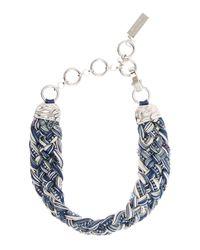 Max Mara | Blue Potente Plaited Sparkle Necklace | Lyst