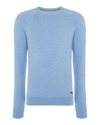 Duck and Cover | Blue Relay Cotton Stretch Crew Neck Jumper for Men | Lyst