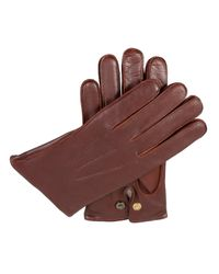 Dents | Brown Mens Leather Gloves With Wool Lining for Men | Lyst