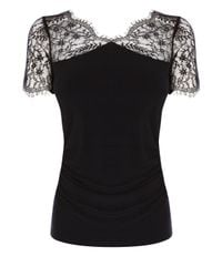 Coast - Black Gertrude Jersey Top - Lyst