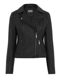 Oasis | Black Faux Leather Biker Jacket | Lyst