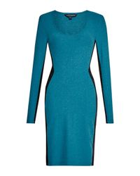 French Connection | Blue Mayan Plain Panelled Dress | Lyst