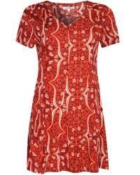 Glamorous | Red Printed Smock Dress | Lyst