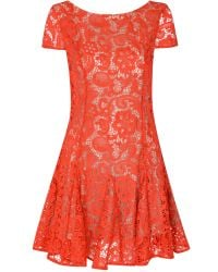 Glamorous | Red Lace Skater Dress | Lyst