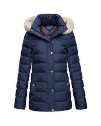 Tommy Hilfiger | Blue New Tyra Down Jacket | Lyst