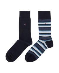 Tommy Hilfiger | Blue 2 Pack Variation Socks for Men | Lyst