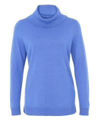 Basler | Blue Fine Knit Roll Neck | Lyst