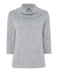 Tigi | Gray Three Quarter Sleeve Cowl Neck Top | Lyst