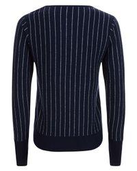 Jaeger - Blue Pinstripe Wool Jumper - Lyst