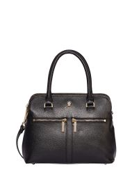 Modalu | Black Pippa Classic Leather Grab Bag | Lyst
