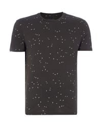Armani Jeans | Gray Regular Fit All Over Eagle Print T-shirt for Men | Lyst