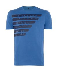 Armani Jeans | Blue Regular Fit Large Logo Wing T-shirt for Men | Lyst