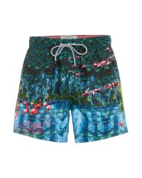 Ted Baker | Green Flamingo Print Swim Shorts for Men | Lyst
