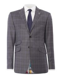 Ted Baker | Gray Flore Slim Fit Tonal Check Suit Jacket for Men | Lyst