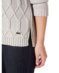 Barbour - White Block Texture Knit - Lyst