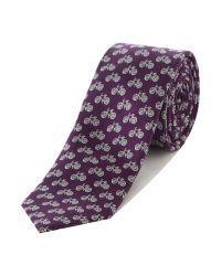 Ted Baker | Purple Bike Patterned Tie for Men | Lyst