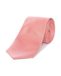 Ted Baker | Pink Leysaa Textured Tonal Geometric Tie for Men | Lyst