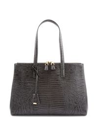 Jaeger - Gray Latimer Leather Lizard Tote - Lyst