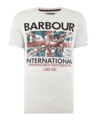Barbour   Gray Ride Faster Short Sleeve T-shirt for Men   Lyst