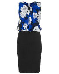 Quiz   Blue Chiffon Floral Bubble Dress   Lyst