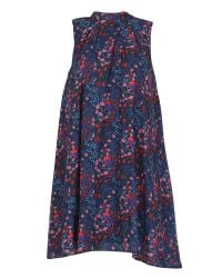 Cutie | Blue Bird Print Sleeveless Dress | Lyst