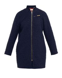 Ted Baker | Blue Yernie Cocoon Coat | Lyst