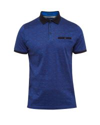 Ted Baker   Blue Eduardo Space Dye Cotton Polo Shirt for Men   Lyst