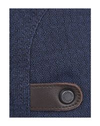 Ted Baker - Blue Textured Flat Cap for Men - Lyst