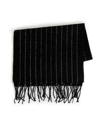 TOPMAN   Black Pinstripe Scarf for Men   Lyst