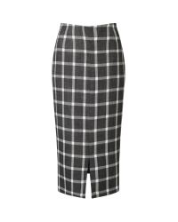 Eastex   Multicolor Check Pencil Skirt   Lyst