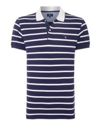 GANT | Blue Breton Stripe Short-sleeve Polo-shirt for Men | Lyst