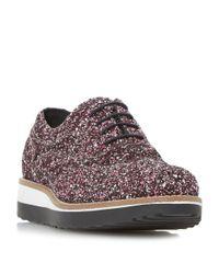 Dune | Pink Fleek Lace Up Shoes | Lyst