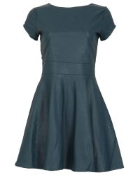 Cutie | Blue A-line Leatherette Dress | Lyst