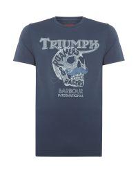 Barbour | Blue Triumph Skull Print T-shirt for Men | Lyst