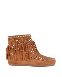 Ash | Brown Spirit Fringed Ankle Boots | Lyst