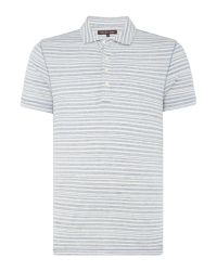 Michael Kors | Gray Faded Stripe Polo Shirt for Men | Lyst