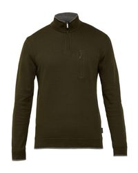 Ted Baker | Green Sons Textured Crew Neck Jumper for Men | Lyst