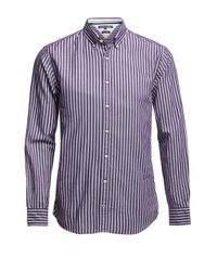 Tommy Hilfiger | Purple Stripe Herringbone Shirt for Men | Lyst