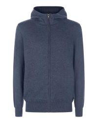 Victorinox | Blue Weave Full Zip Cardigan for Men | Lyst