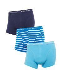 Björn Borg   Blue 3 Pack Stripe And Solid Trunk for Men   Lyst