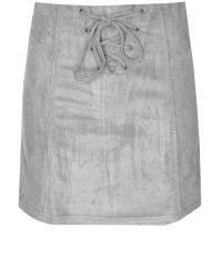 Glamorous | Gray Faux Suede Mini Skirt | Lyst